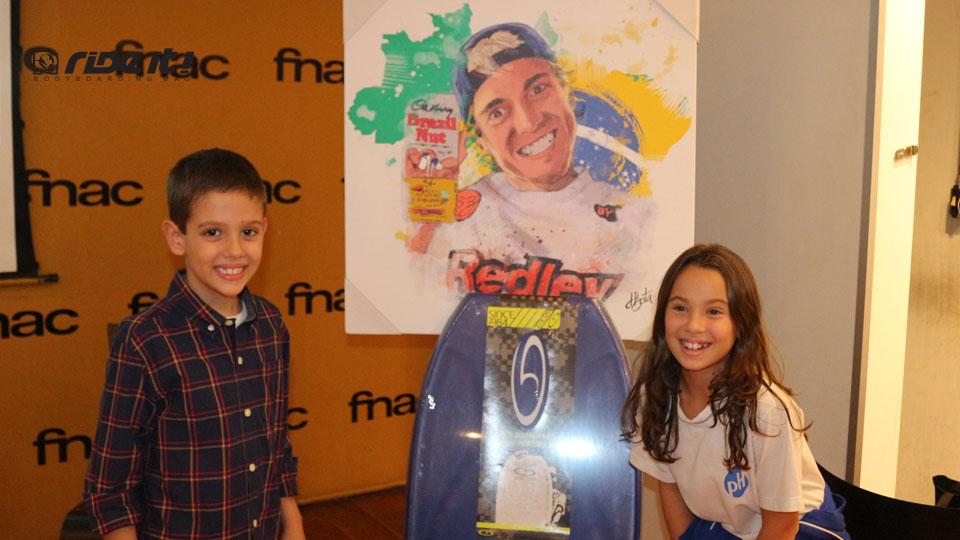 Sobrinhos de Xandinho, com o mesmo sorriso como marca registrada da familia De Pontes. Pic Ricardo Festa